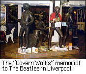 The Cavern Walks memorial to the Beatles in Liverpool.